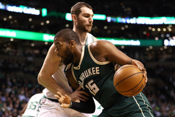 Tyler Zeller Milwaukee Bucks v Boston Celtics