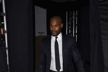 Tyson Beckford Naomi Campbell's Fashion For Relief Charity Fashion Show - Backstage