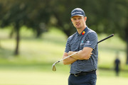 Justin Rose of England looks on from a green during a practice round prior to the 120th U.S. Open Championship on September 15, 2020 at Winged Foot Golf Club in Mamaroneck, New York.