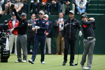 Rory McIlroy Graeme McDowell U.S. Open - Preview Day 3