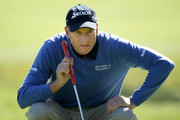 Jim Furyk lines up a putt on the 16th hole during the first round of the 110th U.S. Open at Pebble Beach Golf Links on June 17, 2010 in Pebble Beach, California.
