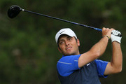 Francesco Molinari of Italy hits his tee shot on the second hole during the first round of the 110th U.S. Open at Pebble Beach Golf Links on June 17, 2010 in Pebble Beach, California.