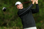 Lucas Glover hits his tee shot on the second hole during the first round of the 110th U.S. Open at Pebble Beach Golf Links on June 17, 2010 in Pebble Beach, California.