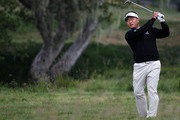 K.J. Choi of South Korea hits a shot on the second hole during the first round of the 110th U.S. Open at Pebble Beach Golf Links on June 17, 2010 in Pebble Beach, California.