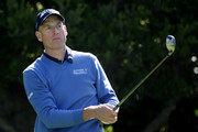 Jim Furyk watches his tee shot on the 16th hole during the first round of the 110th U.S. Open at Pebble Beach Golf Links on June 17, 2010 in Pebble Beach, California.