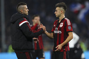 Jeremy Menez shakes hands with Stephan El Shaarawy of AC Milan at the end of the Serie A match between UC Sampdoria and AC Milan at Stadio Luigi Ferraris on November 8, 2014 in Genoa, Italy.