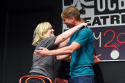 Amy Poehler and Jack McBrayer attends the UCB's 20th Annual Del Close Improv Marathon Press Conference at UCB Theatre on June 29, 2018 in New York City.