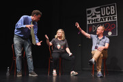 Matt Besser, Amy Poehler and Matt Walsh attend the UCB's 20th Annual Del Close Improv Marathon Press Conference at UCB Theatre on June 29, 2018 in New York City.