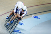 Ed Clancy, Steven Burke, Owain Doull and Andrew Tennant of the Great Britain Cycling Team compete in the Mens Team Pursuit first round race during day 2 of the UCI Track Cycling World Championships held at National Velodrome on February 19, 2015 in Paris, France.