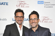 """Lawrence Zarian and Gregory Zarian attend the UCLA Jonsson Cancer Center Foundation 24th Annual """"Taste For A Cure"""" Honoring President of Lionsgate Television Group, Sandra Stern at the Beverly Wilshire Hotel on April 26, 2019 in Los Angeles, California."""