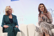 Kelsey Martin and Maria Shriver attend the UCLA #WOW The Wonder Of Women Summit at UCLA Meyer and Renee Luskin Conference Center on April 11, 2019 in Los Angeles, California.