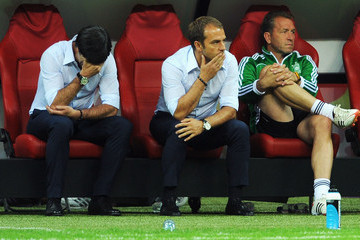Joachim Loew Hansi Flick UEFA EURO 2012 - Matchday 18 - Pictures Of The Day