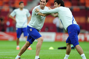 Arda Turan Diego Godin UEFA Europa League Final - Previews