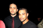 (L-R) Carlos Condit and Wilmer Valderrama during UFC 148 inside MGM Grand Garden Arena on July 7, 2012 in Las Vegas, Nevada.
