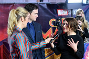 "Ryan Fleck and Anna Boden are interviewed by Edith Bowman at the UK Gala Screening of Marvel Studios' ""Captain Marvel"" at The Curzon Mayfair on February 27, 2019 in London, England."