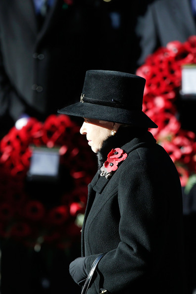Queen Elizabeth II stands in front of the Cenotaph during a wreath laying ceremony on Whitehall on November 10, 2013 in London, United Kingdom. People across the UK gathered to pay tribute to service personnel who have died in the two World Wars and subsequent conflicts, as part of the annual Remembrance Sunday ceremonies.