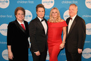 (L-R) CEO & President UNICEF USA Caryl Stern, honoree and Global Philanthropist Award recipients actor Rob Lowe and designer Sheryl Lowe, and honoree and UNICEF Children First Award recipient Kimberly-Clark Corp CEO Thomas Falk at the UNICEF Gala at The Ritz-Carlton, Dallas on February 3, 2018 in Dallas, Texas.