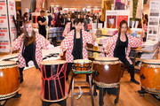 Taiko drummers perform as UNIQLO, Nina Agdal and Leigh Lezark Celebrate Store Opening with VIP Event at Hudson Yards, NYC on March 14, 2019 in New York City.