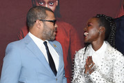 """Jordan Peele and Lupita Nyong'o attend the """"US"""" premiere at Museum of Modern Art on March 19, 2019 in New York City."""