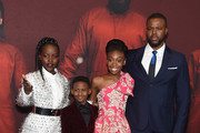 """(L-R) Lupita Nyong'o, Evan Alex, Shahadi Wright Joseph and Winston Duke attend the """"US"""" premiere at Museum of Modern Art on March 19, 2019 in New York City."""