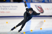 Heather Bergsma competes in the Ladies 1500 meter event during the Long Track Speed Skating Olympic Trials at the Pettit National Ice Center on January 6, 2018 in Milwaukee, Wisconsin.
