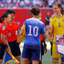 Sachiko Yamagishi Photos - Captain's Carli Lloyd #10 of the United States and Lotta Schelin #8 of Sweden shake hands along with the head referee Sachiko Yamagishi (3rd L) and the assistant referees before the FIFA Women's World Cup Canada 2015 match at Winnipeg Stadium on June 12, 2015 in Winnipeg, Canada. - USA v Sweden: Group D - FIFA Women's World Cup 2015