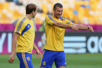 Oleh Gusev Ukraine Training and Press Conference - Group D: UEFA EURO 2012