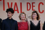 (L-R) Actor Louis Garrel, actress Marisa Borini and director Valeria Bruni Tedeschi attend the premiere for 'Un Chateau en Italie' during the 66th Annual Cannes Film Festival at Palais des Festivals on May 20, 2013 in Cannes, France.