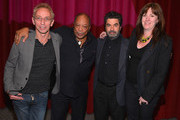 """Moderator Nic Harcourt, composer Quincy Jones, drector Joe Berlinger and executive producer Molly Thompson attend a special screening of A&E Entertainment's """"Under African Skies"""" on June 8, 2012 in Los Angeles, California."""
