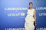 Eva Riccobono attends the photocall at the Unicef Summer Gala Presented by Luisaviaroma at  on August 09, 2019 in Porto Cervo, Italy.