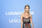 Daphne Groeneveld attends the photocall at the Unicef Summer Gala Presented by Luisaviaroma at  on August 09, 2019 in Porto Cervo, Italy.