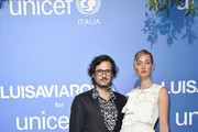 Matteo Ceccarini and Eva Riccobono attend the photocall at the Unicef Summer Gala Presented by Luisaviaroma at  on August 09, 2019 in Porto Cervo, Italy.