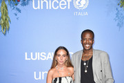 Chloe Green and Van J Morgan attends the photocall at the Unicef Summer Gala Presented by Luisaviaroma at  on August 09, 2019 in Porto Cervo, Italy.
