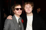 Beck (L) and Lewis Capaldi attend the Universal Music Group's 2020 Grammy after party presented by Lenovo at Rolling Greens Nursery on January 26, 2020 in Los Angeles, California.