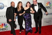 (L-R) Actors Ian Gomez, Nia Vardalos, Kate Flannery and Chris Haston attend Universal, NBC, Focus Features and E! Entertainment 2015 Golden Globe Awards After Party sponsored by Chrysler and Hilton at The Beverly Hilton Hotel on January 11, 2015 in Beverly Hills, California.