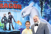 "America Ferrera and director Dean DeBlois arrive at Universal Pictures And DreamWorks Animation Premiere Of ""How To Train Your Dragon: The Hidden World"" at Regency Village Theatre on February 9, 2019 in Westwood, California."