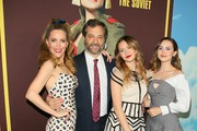 Leslie Mann, Iris Apatow, Maude Apatow and Judd Apatow attend Universal Pictures and DreamWorks Pictures' premiere of 'Welcome To Marwen' at ArcLight Hollywood on December 10, 2018 in Hollywood, California.