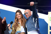 Maria Menounos and Vin Diesel speak onstage during Universal Pictures Presents The Road To F9 Concert and Trailer Drop on January 31, 2020 in Miami, Florida.