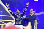 Ludacris and John Cena speak onstage during Universal Pictures Presents The Road To F9 Concert and Trailer Drop on January 31, 2020 in Miami, Florida.