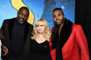 (L-R) Idris Elba, Rebel Wilson, and Jason Derulo attend The World Premiere of Cats, presented by Universal Pictures on December 16, 2019 in New York City.