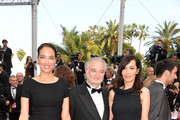 "(L-R) Carmen Chaplin Dolores Chaplin and Jacques Attali attend ""The Unknown Girl (La Fille Inconnue)"" Premiere during the 69th annual Cannes Film Festival at the Palais des Festivals on May 18, 2016 in Cannes, France."