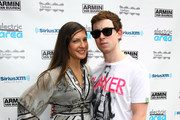 "Hardwell (R) and Sylvia Tosun attend the ""Upstairs with Armin Van Buuren Labor Day Party"" at Upstairs At The Kimberly Hotel on September 5, 2011 in New York City."