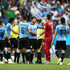 Diego Laxalt Photos - Luis Suarez of Uruguay celebrates victory with team mates during the 2018 FIFA World Cup Russia group A match between Uruguay and Saudi Arabia at Rostov Arena on June 20, 2018 in Rostov-on-Don, Russia. - Uruguay Vs. Saudi Arabia: Group A - 2018 FIFA World Cup Russia