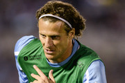 Diego Forlan of Uruguay in action during a match between Uruguay and Argentina as part of the 18th round of the South American Qualifiers for the FIFA's World Cup Brazil 2014 at Centenario Stadium Stadium on October 15, 2013 in Montevideo, Uruguay.