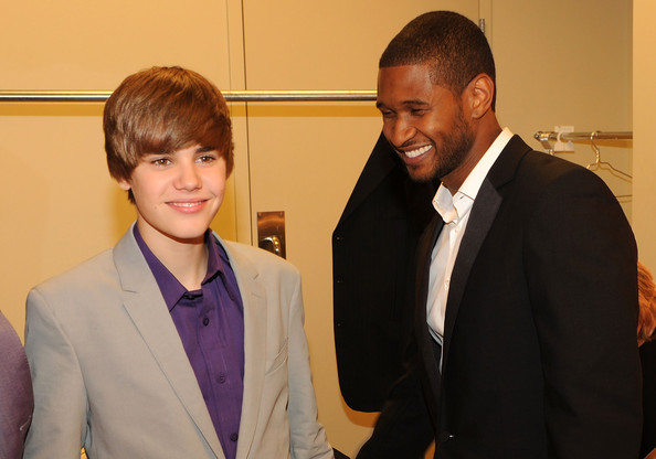 bieber new pics. Usher and Justin Bieber - New