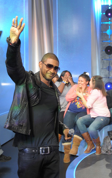 "Singer Usher visits BET's ""106 & Park"" at BET Studios on March 24, 2010 in New York City."