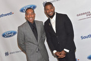 (L-R) Recording Artist Ludacris and recording artist Usher Raymond attend Ushers New Look United to Ignite Awards Presidents Circle Luncheon  on July 23, 2015 in Atlanta, Georgia.
