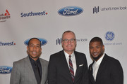 (L-R) Recording Artist Ludacris,Georgia Lieutenant Governor Casey Cagle and recording artist Usher Raymond attend Ushers New Look United to Ignite Awards Presidents Circle Luncheon  on July 23, 2015 in Atlanta, Georgia.