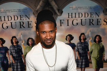 Usher 'Hidden Figures' Screening Hosted by Janelle Monae and Pharrell Williams at Regal Atlantic Station