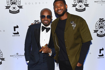 Usher Jermaine Dupri Celebrates So So Def 25 and Songwriters Hall Of Fame Induction At Gold Bar Toasted By Moet & Chandon